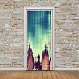 cheap -Abstract Landscape Wall Stickers 3D Wall Stickers Blackboard Wall Stickers Decorative Wall Stickers Fridge Stickers, Vinyl Home Decoration