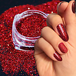 Недорогие -1 Гель для ногтей Порошок блеска Элегантный и роскошный Блеск и блеск Советы для ногтей