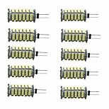 cheap -10pcs 3W 350 lm G4 LED Bi-pin Lights T 1 leds SMD 3528 Decorative Warm White Cold White DC 12V