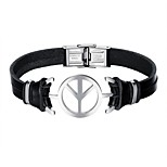cheap -Men's Leather Link Bracelet - Casual Cool Geometric Airplane Black Bracelet For Daily Date