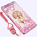 cheap -Case For Huawei P9 Shockproof Rhinestone with Stand Back Cover Animal Soft Silicone for Huawei P9