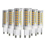 preiswerte -YWXLIGHT® 6pcs 9W 750-850 lm G9 LED Doppel-Pin Leuchten T 76 Leds SMD 2835 Abblendbar Warmes Weiß Kühles Weiß Natürliches Weiß