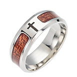 cheap -Men's Cross Band Ring - Fashion Brown Ring For Daily