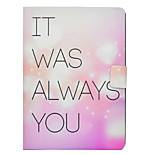 cheap -Case For Apple iPad 10.5 iPad Pro 9.7 Card Holder with Stand Flip Pattern Full Body Cases Word / Phrase Heart Hard PU Leather for iPad