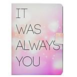 Недорогие -Кейс для Назначение Apple iPad 10.5 iPad Pro 9.7 Бумажник для карт со стендом Флип С узором Чехол Слова / выражения С сердцем Твердый