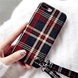 cheap -Case For Apple iPhone X iPhone 7 Plus Pattern Back Cover Solid Colored Soft Textile for iPhone X iPhone 8 Plus iPhone 8 iPhone 7 Plus
