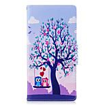 Недорогие -Кейс для Назначение Sony Xperia L2 Xperia XA2 Ultra Бумажник для карт Кошелек со стендом Флип С узором Чехол дерево Сова Твердый Кожа PU