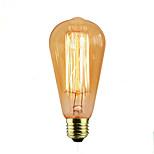 Недорогие -1шт 40 Вт E26/E27 ST58 Теплый Желтый 2000 К Декоративная Лампа накаливания Vintage Эдисон лампочка 110-120V 220-240V
