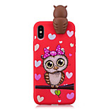 cheap -Case For Apple iPhone X iPhone 8 Shockproof Pattern DIY Back Cover Owl 3D Cartoon Cartoon Soft TPU for iPhone X iPhone 8 Plus iPhone 8