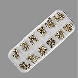 Недорогие -1 Орнаменты металлический Металл / Плакирование / Сухой цветок Милый Повседневные Дизайн ногтей