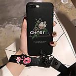 Недорогие -Кейс для Назначение Apple iPhone 6 Plus iPhone 7 Plus С узором Кейс на заднюю панель Цветы Мягкий ТПУ для iPhone 8 Pluss iPhone 8 iPhone