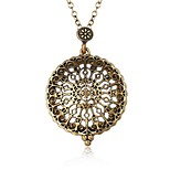 cheap -Men's Pendant Necklace - Metallic Statement Ethnic Circle Ancient Bronze Necklace For Date School
