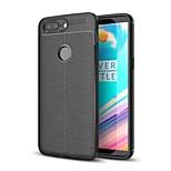 Недорогие -Кейс для Назначение OnePlus OnePlus 5T 5 Защита от удара Кейс на заднюю панель Сплошной цвет Мягкий ТПУ для One Plus 5 OnePlus 5T One
