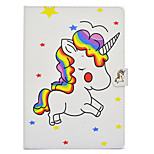 cheap -Case For Apple iPad mini 4 iPad Mini 3/2/1 Card Holder Shockproof with Stand Flip Auto Sleep/Wake Up Full Body Cases Unicorn Hard PU