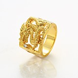 cheap -Men's Cool Gold Plated Dragon Statement Ring - Rock Gold Ring For Club / Street