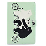 cheap -Case For Apple iPad Air 2 iPad 10.5 Card Holder Shockproof with Stand Flip Auto Sleep/Wake Up Full Body Cases Animal Hard PU Leather for