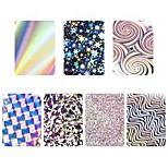 Недорогие -6 Наклейки и ленты Наклейка для ногтей Бутик Наклейки для ногтей На каждый день Милый стиль Мягкость Сияние удобный Цветной Лучшее