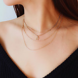 cheap -Women's Colorful Choker Necklace - Simple Casual Colorful Fashion Music Notes Gold Silver Necklace For Gift Daily Prom Club Street