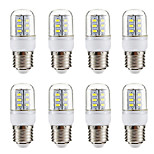 cheap -BRELONG® 8pcs 3W 270 lm E14 E26/E27 LED Corn Lights 24 leds SMD 5730 Warm White White 220-240V