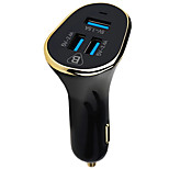cheap -Car Charger Phone USB Charger USB Multi-Output QC 3.0 3 USB Ports 5.1A DC 12V-24V