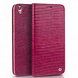 Недорогие -Кейс для Назначение OPPO R9s Plus R9s Бумажник для карт Кошелек Защита от удара Флип Чехол Сплошной цвет Твердый Настоящая кожа для OPPO