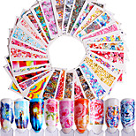 cheap -48 Stickers & Tapes Flower Nail Decals Stickers Nail Art Design