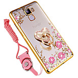 cheap -Case For Huawei Honor 7X Shockproof Rhinestone Ring Holder Back Cover Flower Soft Silicone for Huawei Honor 7