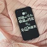 Недорогие -Кейс для Назначение Apple iPhone 6 Plus iPhone 7 Plus С узором Кейс на заднюю панель Слова / выражения Мягкий ТПУ для iPhone 8 Pluss