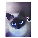 cheap -Case For Apple iPad 10.5 iPad Pro 9.7 Card Holder with Stand Flip Pattern Full Body Cases Cat Hard PU Leather for iPad Mini 4 iPad Mini