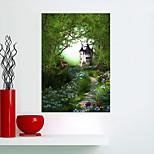 Недорогие -Животные Цветочные мотивы/ботанический Наклейки Простые наклейки 3D наклейки Наклейки для животных Декоративные наклейки на стены, Винил