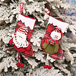 cheap -Stockings Holiday Family Christmas Widespread Handmade Pouches Multi-function Christmas Decoration