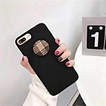 Недорогие -Кейс для Назначение Apple iPhone X iPhone 7 Plus С узором Кейс на заднюю панель Сплошной цвет Твердый ПК для iPhone X iPhone 8 Pluss