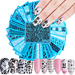 cheap -48 Water Transfer Sticker Nail Sticker Nail Wraps Flower Nail Decals Stickers Decorations More Accessories Nail Art Design DIY