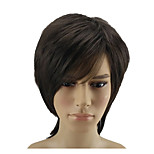 cheap -Synthetic Wig Straight Layered Haircut Natural Hairline Brown Red Men's Women's Capless Natural Wigs Short Synthetic Hair