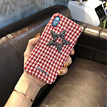 cheap -Case For Apple iPhone X iPhone 7 Plus Rhinestone Pattern Back Cover Lines / Waves Soft Textile for iPhone X iPhone 8 Plus iPhone 8 iPhone