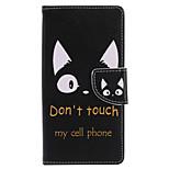 Недорогие -Кейс для Назначение Sony Xperia XZ1 Compact Xperia XZ1 Бумажник для карт Кошелек со стендом Флип С узором Чехол Слова / выражения
