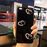 baratos -Capinha Para Apple iPhone X iPhone 7 Plus Estampada Capa traseira Coração Macia Silicone para iPhone X iPhone 8 Plus iPhone 8 iPhone 7
