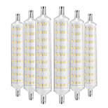 abordables -YWXLIGHT® 6pcs 12W 1000-1200 lm R7S Ampoules Maïs LED 108 diodes électroluminescentes SMD 2835 Décorative Blanc Chaud AC 220-240V