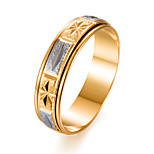 cheap -Men's Women's Band Ring , Fashion Gift Gold Plated Circle Costume Jewelry Gift Valentine