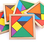 cheap -Wooden Puzzles Flat Shape Focus Toy Hand-made Wooden Birthday Family Universal Toy Baby Gift