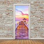 cheap -Landscape 3D Wall Stickers Plane Wall Stickers 3D Wall Stickers Decorative Wall Stickers Photo Stickers Door Stickers, Vinyl Home
