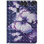 cheap -Case For Apple iPad 10.5 iPad Pro 9.7 Card Holder with Stand Flip Pattern Auto Sleep/Wake Up Full Body Cases Butterfly Hard PU Leather TPU
