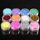 cheap -1 Glitter Powder Sequins Sparkle Nail Art Tips