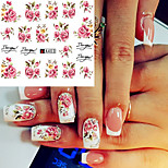 cheap -20pcs Nail Sticker Nail Stamping Template Stickers 3D Print