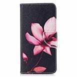 Недорогие -Кейс для Назначение Huawei P9 lite mini P8 Lite (2017) Бумажник для карт Кошелек со стендом Флип С узором Чехол Цветы Твердый Кожа PU для