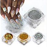 Недорогие -8pcs Порошок блеска Элегантный и роскошный Блеск и блеск Советы для ногтей Дизайн ногтей