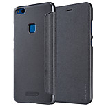 cheap -Case For Huawei P8 Lite (2017) P10 Lite Flip Frosted Full Body Cases Solid Color Hard PU Leather for P10 Lite P8 Lite (2017)