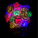 abordables -no-impermeable 40 leds decorativos multicolor dc powered