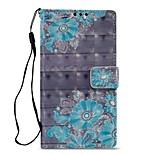 Недорогие -Кейс для Назначение Sony Xperia XZ1 Xperia L2 Бумажник для карт Кошелек со стендом Флип Магнитный Чехол Цветы Твердый Кожа PU для Xperia