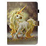 cheap -Case For Apple iPad 10.5 iPad Pro 9.7 Card Holder with Stand Flip Pattern Auto Sleep/Wake Up Full Body Cases Unicorn Hard PU Leather TPU